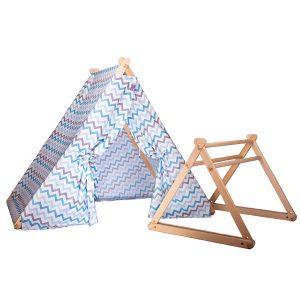 Палатка – гимнастика Happy Babies 2 в 1 – син цвят